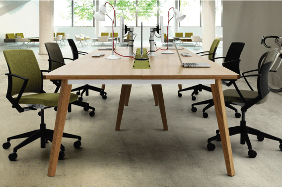 office furniture - communal table with chairs