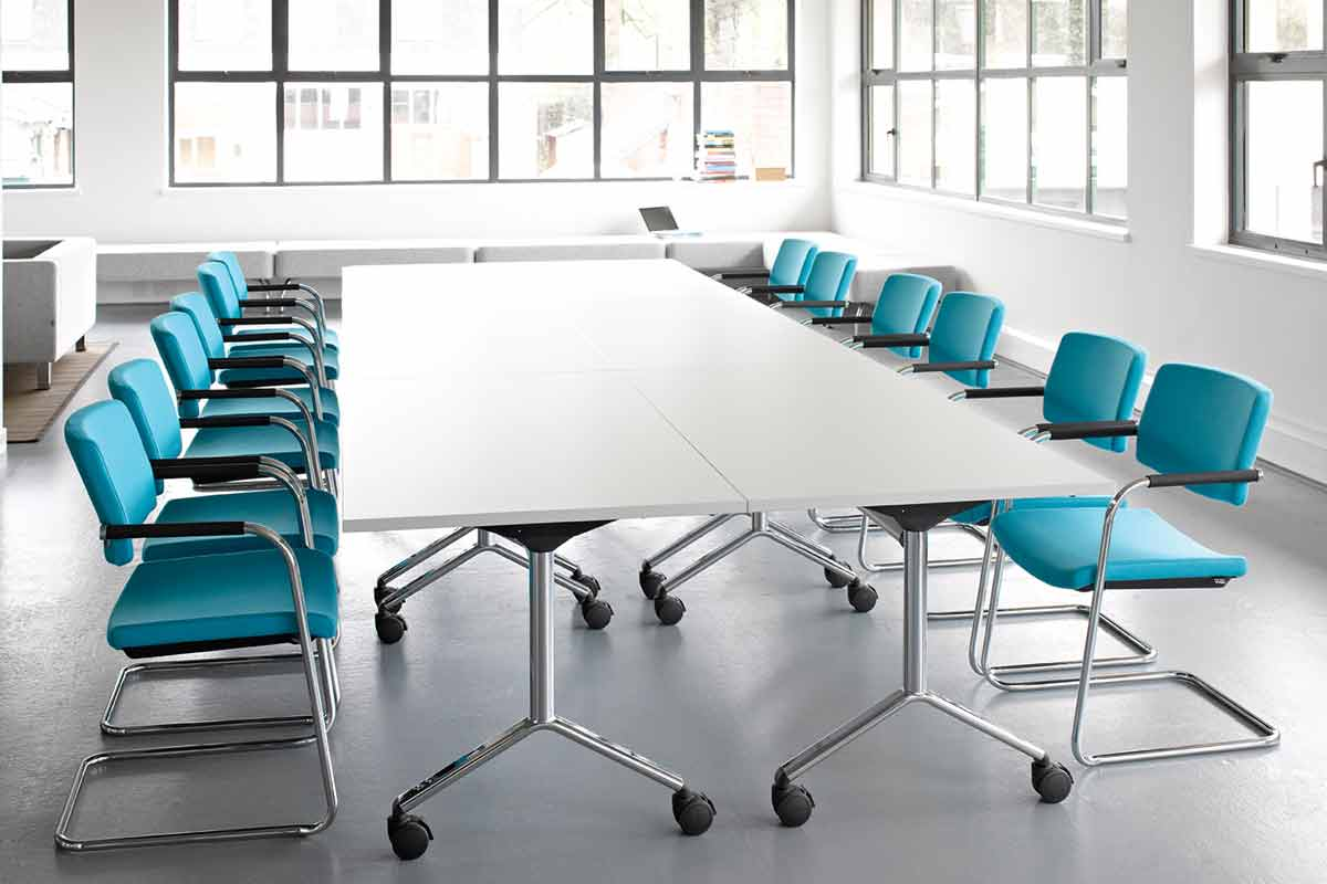 Meeting or boardroom table in office example