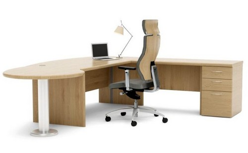 Corniche wooden office desk
