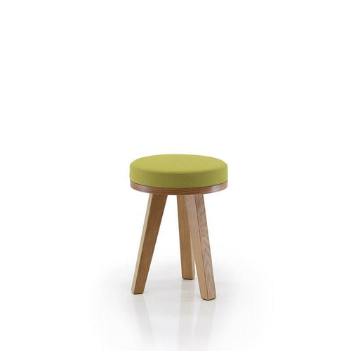 Martin Low Stool with show wood base board in oak