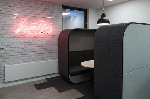 Cocoon accoustic pod in office