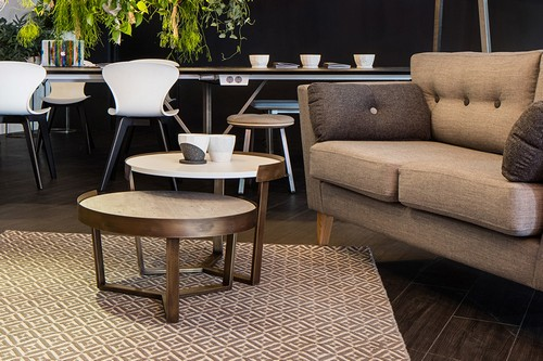Margin Coffee Tables shown with an Urban sofa