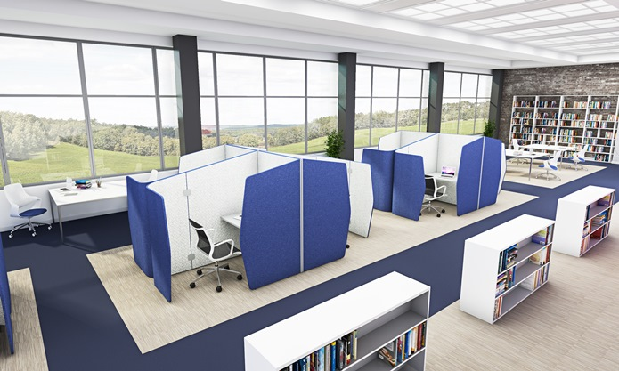 Accoustic pod snug plus in library