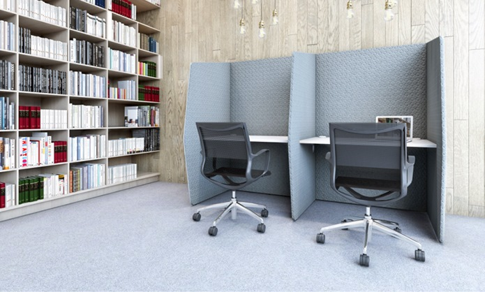 snug acoustic pods in library