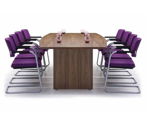 Example meeting room furniture set with purple chairs