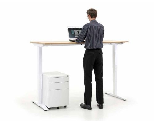 Sit stand desk - height adjustable for office