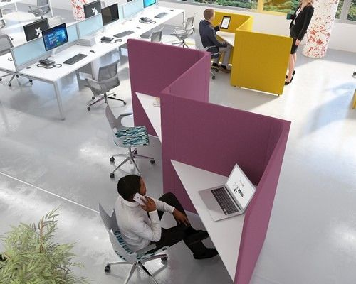 Triangles Private Working Booths
