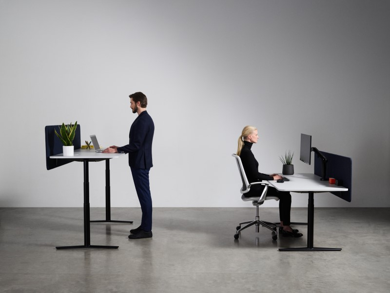 ACDC Sit Stand Desk in an office